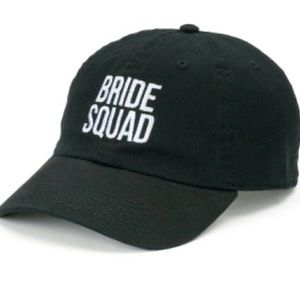 Accessories - NWOT Embroidered  Bride Squad Black Hat